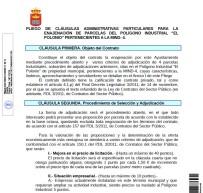 """ENAJENACIÓN DE PARCELAS POLIGONO INDUSTRIAL """"EL POLONIO"""" PERTENECIENTES A LA MIND-4"""