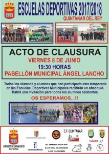 CARTEL CLAUSURA ESCUELAS DEPORTIVAS 17-18