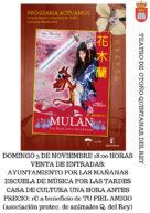 Teatro: Mulán, la princesa guerra