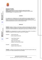 Composición de la mesa de contratación y apertura de las ofertas  del césped artificial del campo de fútbol municipal