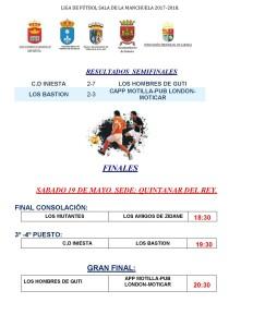 FINALES LIGA FUTBOL SALA MANCHUELA 17-18